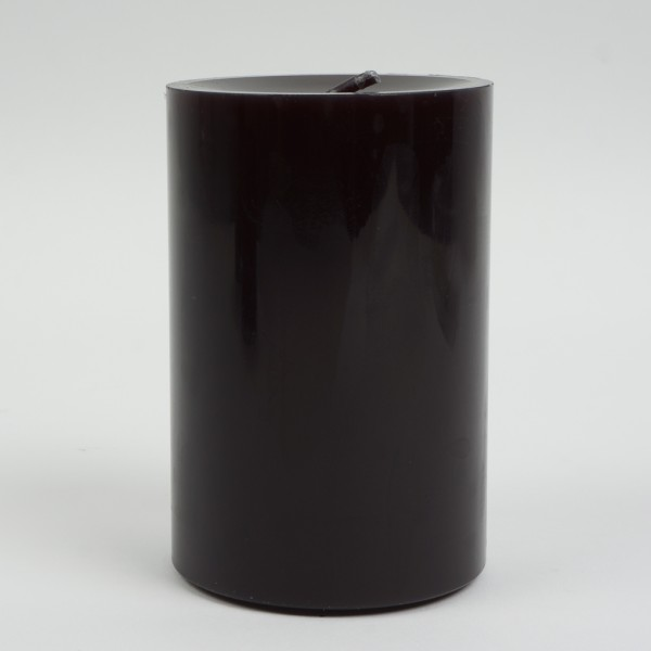 Stumpenkerze Schwarz Nr 088 12x8cm