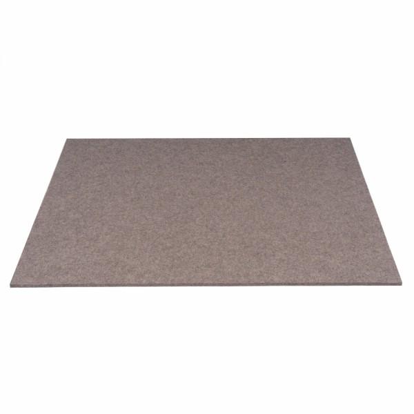 Tischset Wollfilz 45x33cm, Braun melange