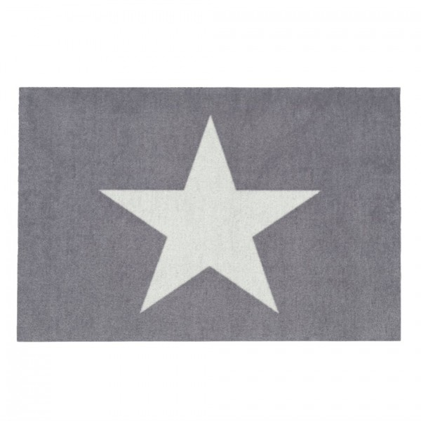 Fußmatte Washable Stern grau/weiss, 50x75cm