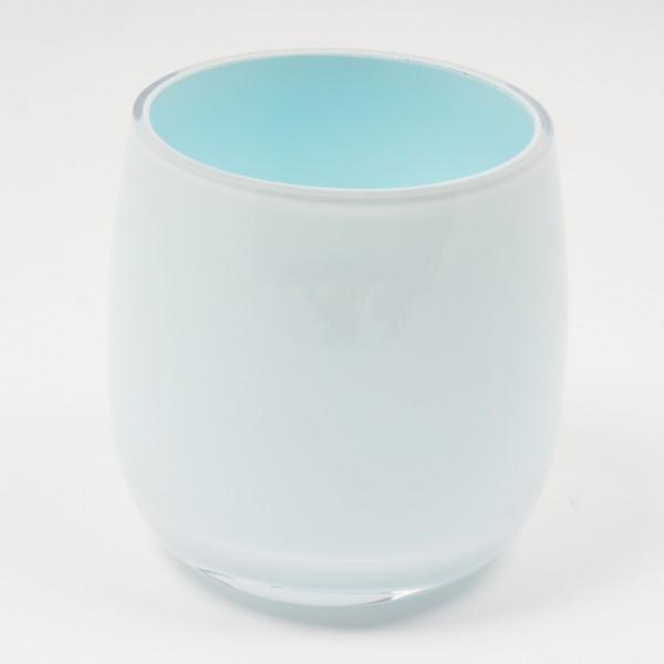 MEL Vase Happy Spring groß 20,5cm pastellblau