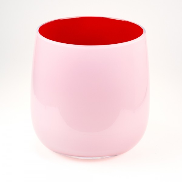 MEL Vase Happy Spring groß 20,5cm dunkelrot