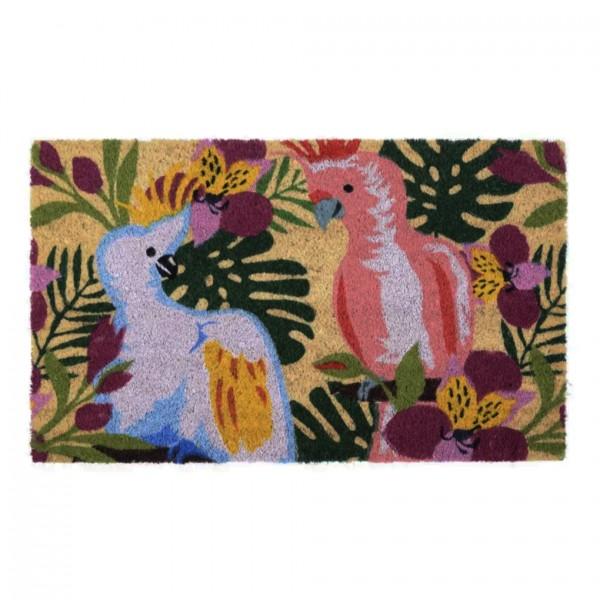 Fußmatte Kokos Birds, bunt, 45x75cm