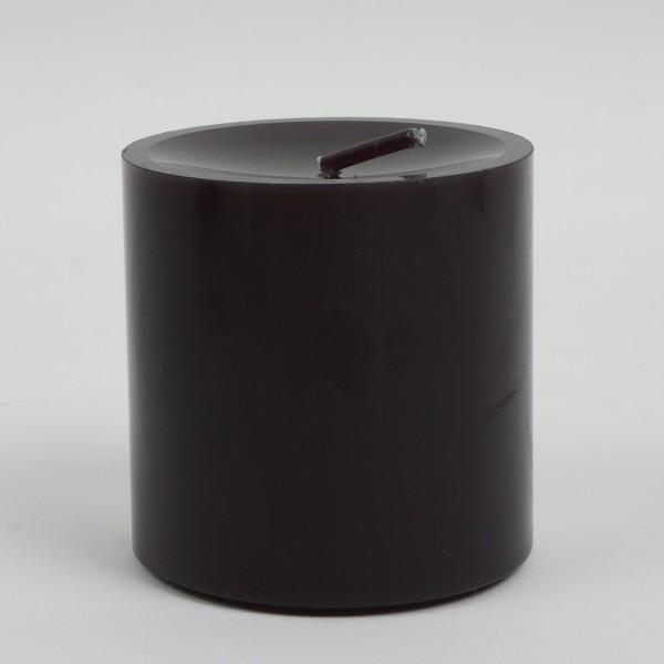 Stumpenkerze Schwarz 8x8cm