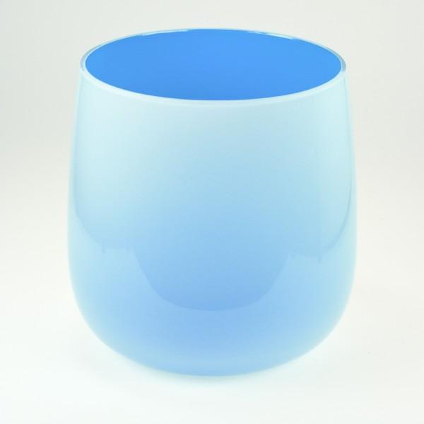 MEL Vase Happy Spring mittel 15cm azurblau