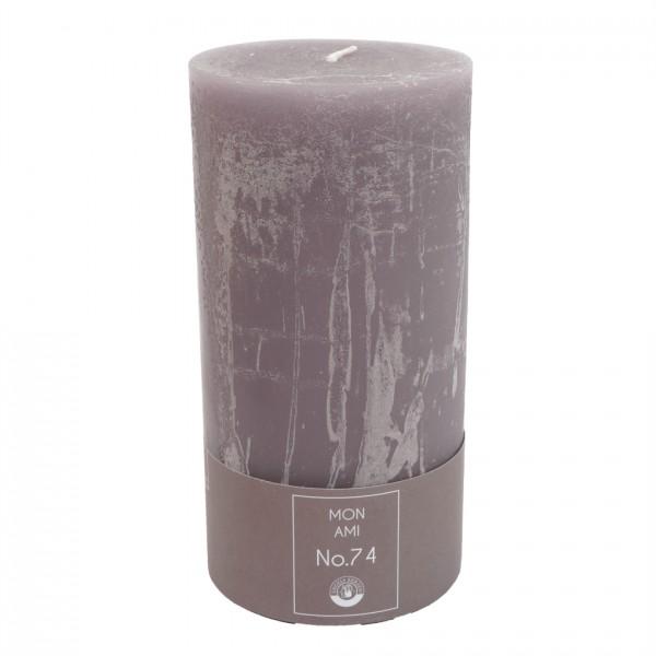 Mon Ami Rustique Kerze violett Nr 074 Ø10cm H20cm