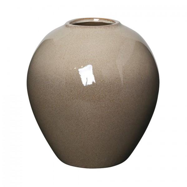 Vase Ingrid M Ceramic, Taupe/Brown, D24cmH25,5cm