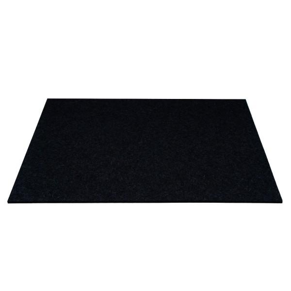 Tischset Wollfilz 45x33cm, Schwarz