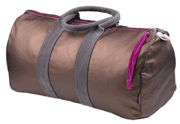 Tasche Travelbag Kunstleder maron