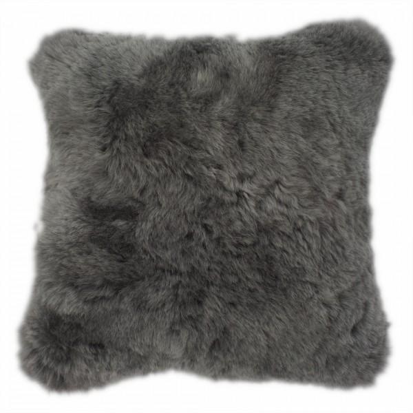 Kissenbezug geschoren 45x45cm -grau gefärbt