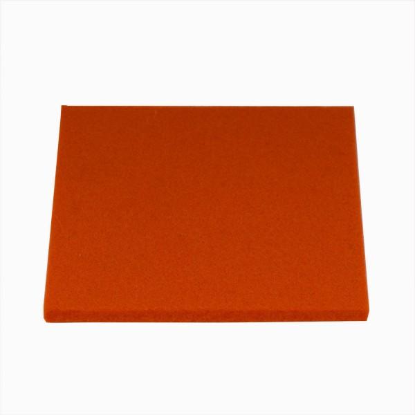 Untersetzer Wollfilz 10x10cm, Pebble Blutorange