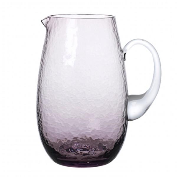 Karaffe, 2 L, mundgeblasenes Glas, purple