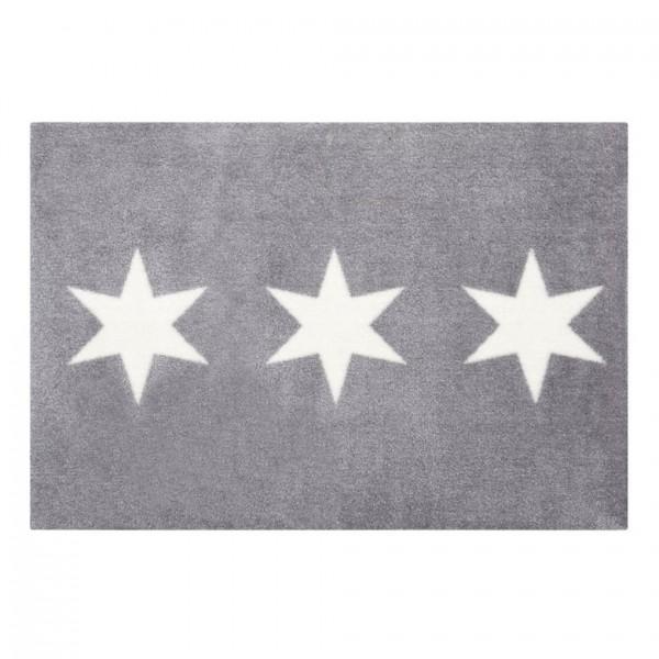 Fußmatte Washables Stars Grau, 66x90cm