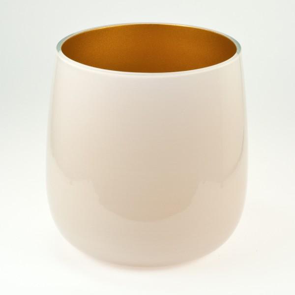 MEL Vase Happy Spring mittel 15cm gold