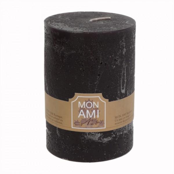 Mon Ami Rustique Kerze truffle noir Nr 041 Ø10cm H15cm