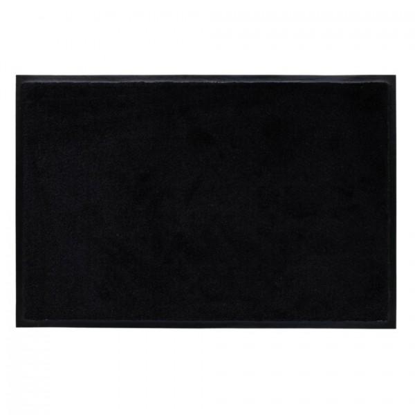 Fußmatte Washables Uni schwarz, 50x75cm