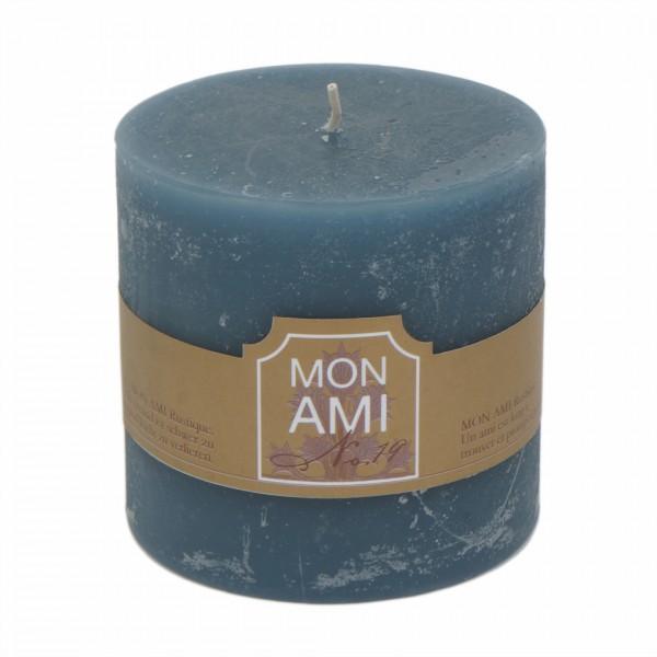 Mon Ami Rustique Kerze granit bleu Nr 019 Ø10cm H10cm