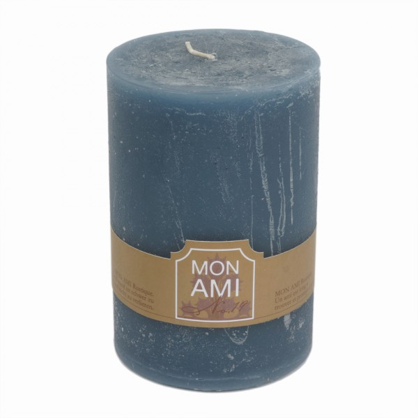 Mon Ami Rustique Kerze granit bleu Nr 019 Ø10cm H15cm
