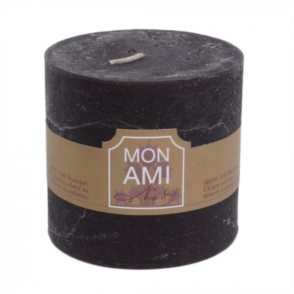 Mon Ami Rustique Kerze truffle noir Nr 041 Ø10cm H10cm