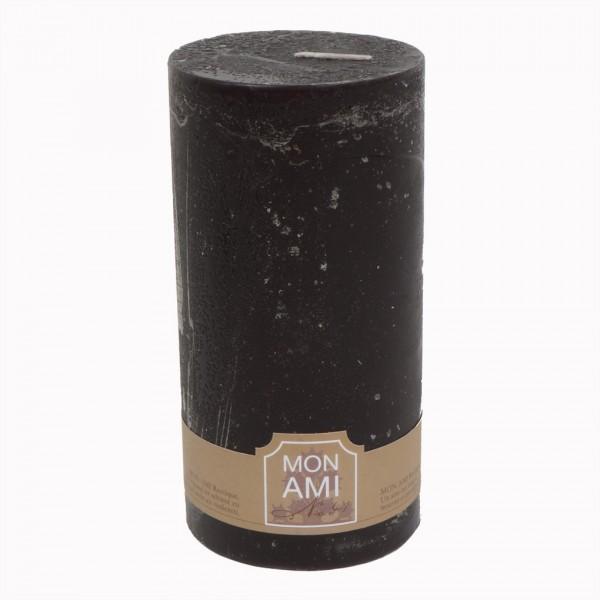 Mon Ami Rustique Kerze truffle noir Nr 041 Ø10cm H20cm
