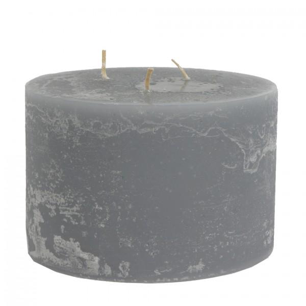Mon Ami Mehrdocht Kerze, Dunkelgrau Nr 081, Ø15cm H10cm