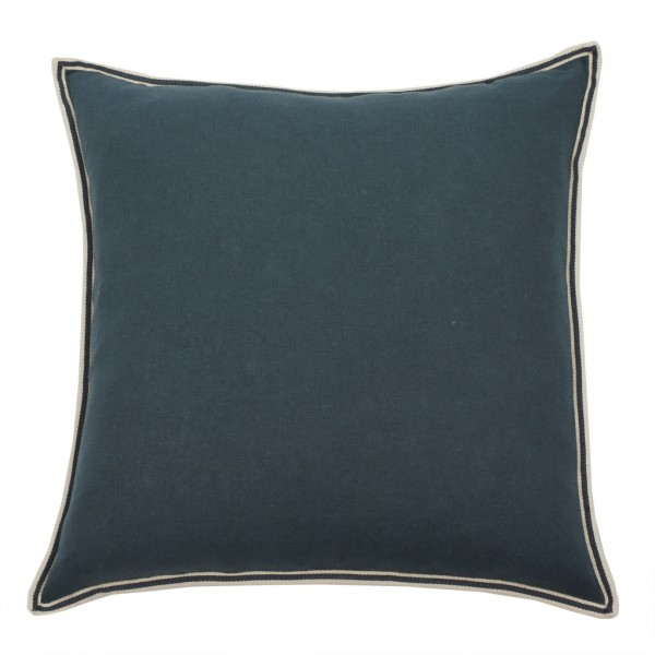 Kissen PHILIA square Smoke blue 50x50cm 50% LI 50% VI, inkl. Füllung