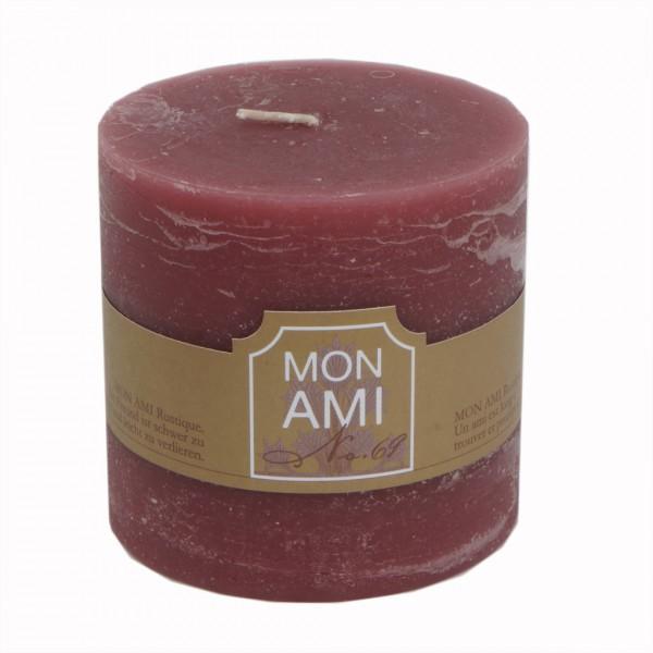 Mon Ami Rustique Kerze maron cassis Nr 069 Ø10cm H10cm